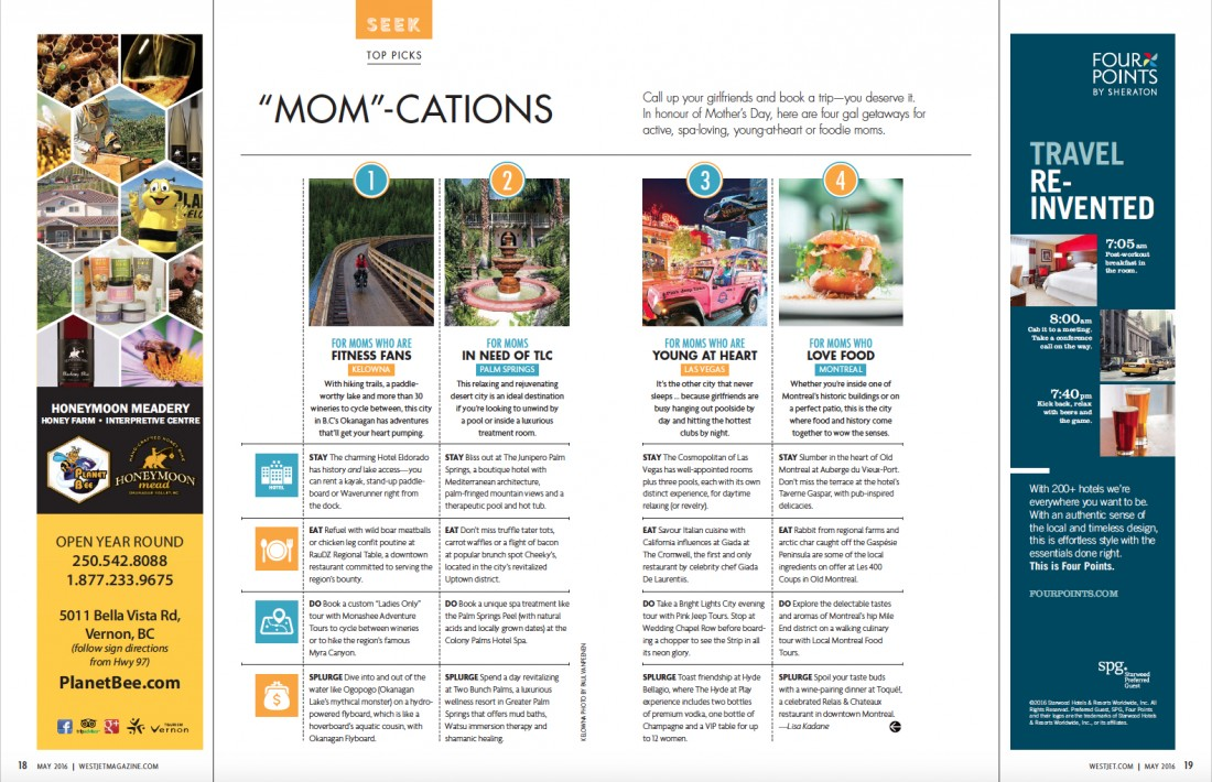 Mom-Cations WestJet May 2016