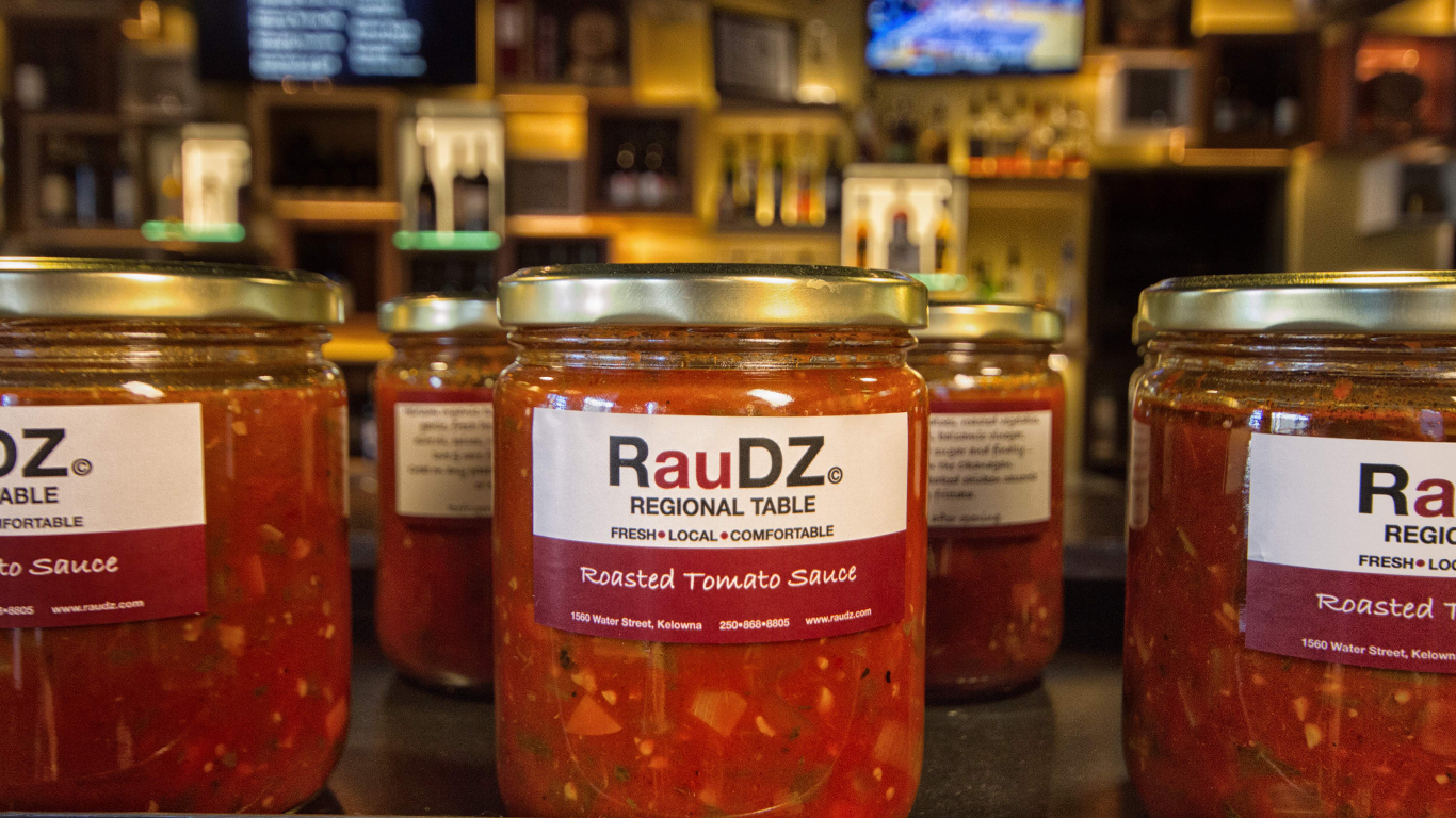RauDZ Regional Table tomato sauce jars
